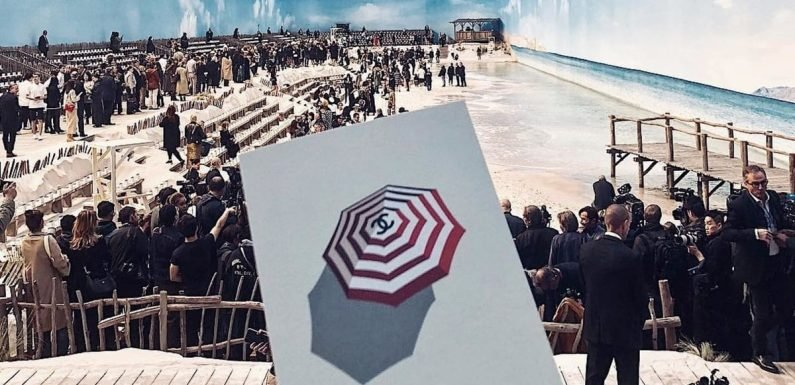 Karl Lagerfeld Moved the Beach to Paris For the Latest Chanel Show, Lifeguards, Waves, and All