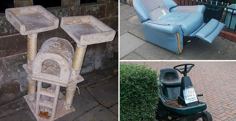 From recliner chairs to sit-on lawn mowers – the new wave of middle-class street flying tipping sweeps UK