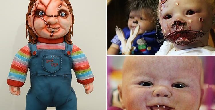 Terrifying monster-baby dolls whose eyes follow you around the room 'brought to life' by horror movie fanatic