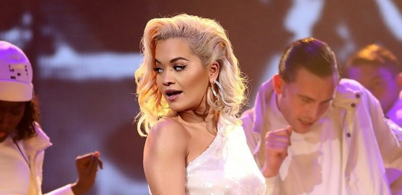 Rita Ora Flaunts Cleavage In Tight Leather Dress At Halloween Ball