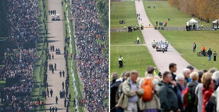 Windsor Long Walk at Princess Eugenie's wedding empty compared to Meghan Markle and Prince Harry's wedding