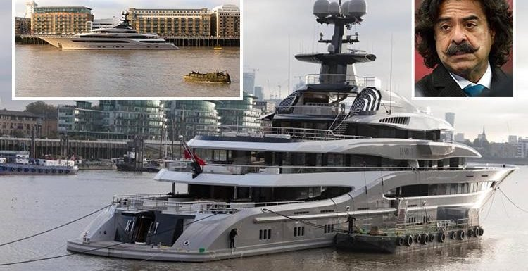 Fulham owner Shahid Khan's £70m superyacht boasting Jacuzzi pool, sports bar and cinema spotted on River Thames
