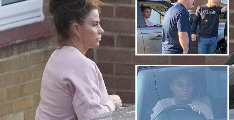 Katie Price spotted back behind the wheel as she leaves Kris Boyson's home the day after drink-drive arrest