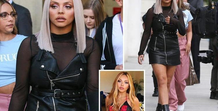 Little Mix's Jesy Nelson shows off her new bobbed haircut after dying her hair platinum blonde