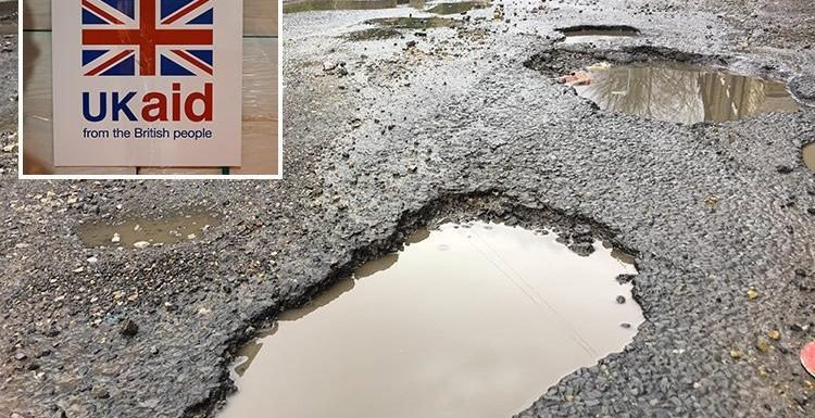 Fury as £4bn of Britain's foreign aid budget goes towards fixing potholes across the world