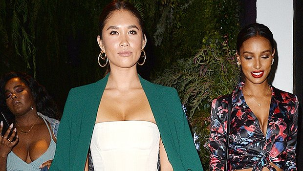 Diddy's Rumored New GF Jocelyn Chew Shows Off Her Cleavage & Tiny Waist In Cream Bustier