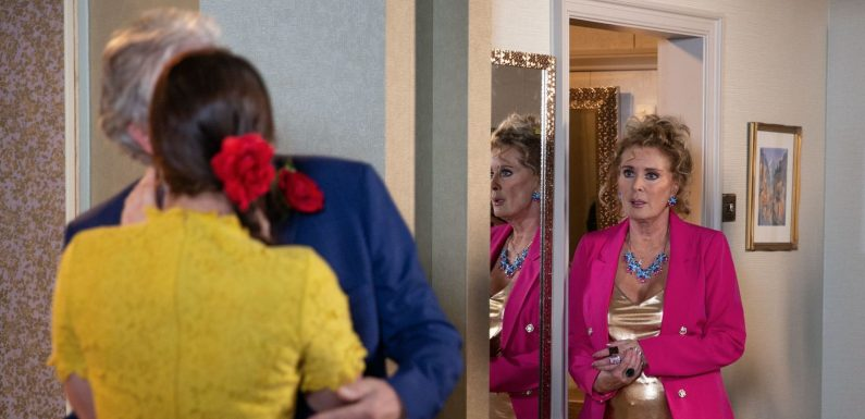 Coronation Street reveals first look at the shocking moment Jim McDonald and Hannah Gilmore get caught out