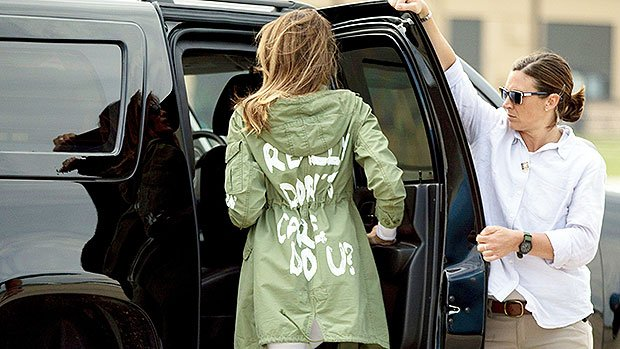 Melania Trump Admits Her 'I Don't Care' Jacket Was A Diss Aimed At The Media, Not An Accident Like Previously Claimed