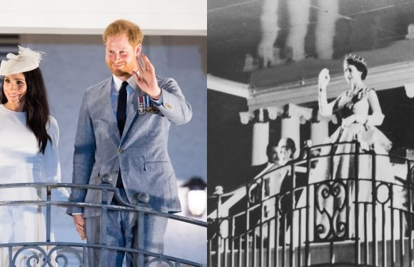 Meghan & Harry Recreated the Queen & Prince Philip's Balcony Moment in Fiji