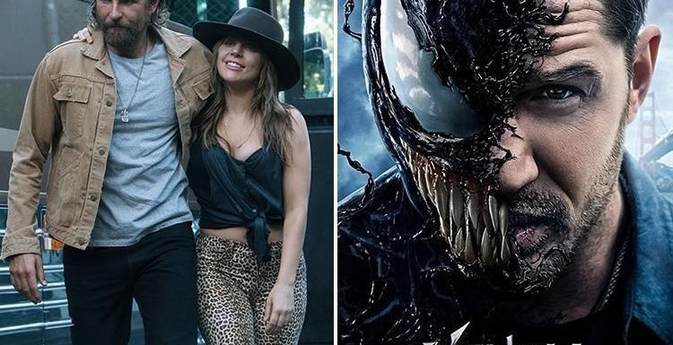 Lady Gaga fans accused of slating Venom as Tom Hardy's new movie is branded a 'complete failure'