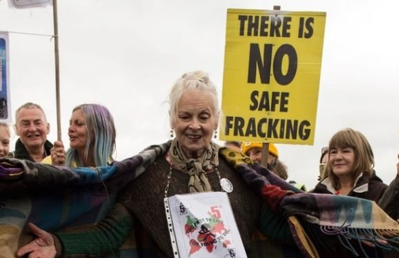 Vivienne Westwood Dances to Abba To Protest Fracking