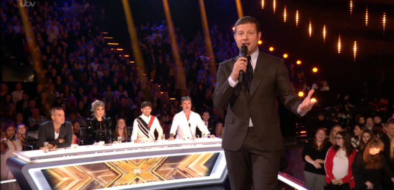 Dermot O'Leary forced to apologise after contestant swears LIVE on air during tense X Factor live show
