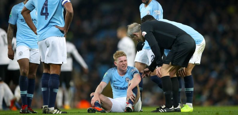 Guardiola issues De Bruyne injury update after Belgian limps off against Fulham