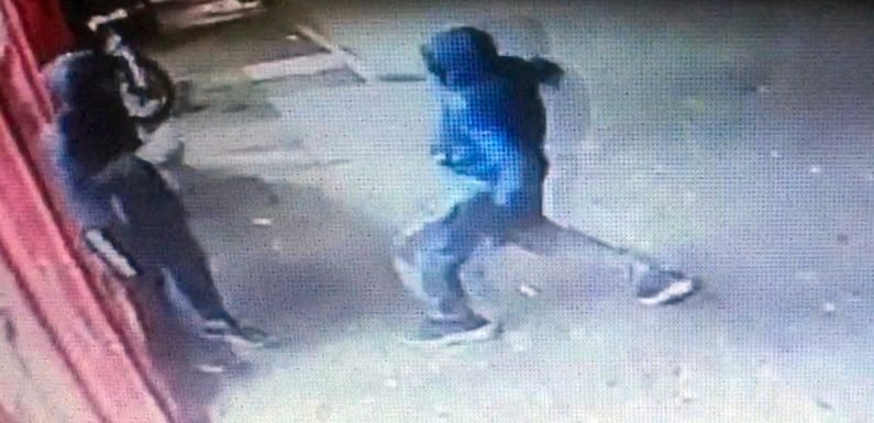 Horrific moment masked gang member stabs boy, 15, in heart on London street