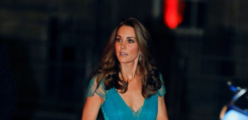 Kate Middleton dazzles in blue as she and William attend awards bash