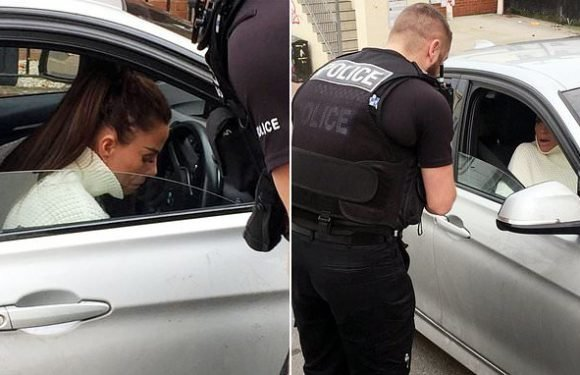 Katie Price 'REFUSES to get out of her car' in altercation with police