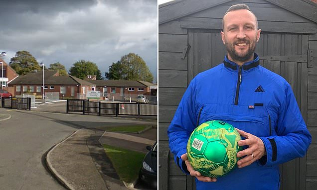 Primary school BANS children playing football before class