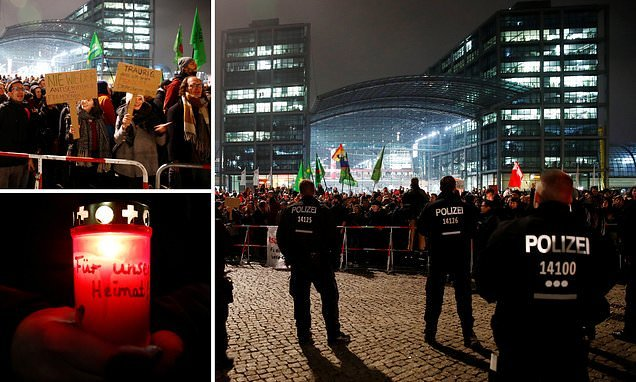 On the 80th anniversary of Kristallnacht the far-right march in Berlin