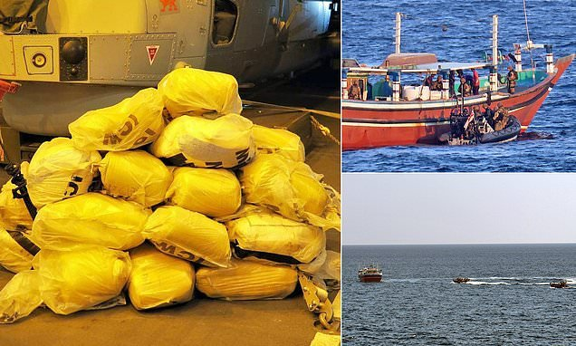 Royal Navy warship seizes THREE TONNES of cannabis from boat