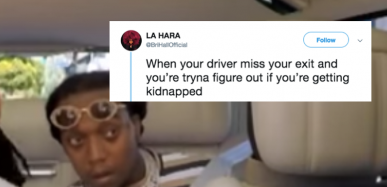 These Memes Of Migos' Takeoff On 'Carpool Karaoke' Are Relatable Passenger Problems