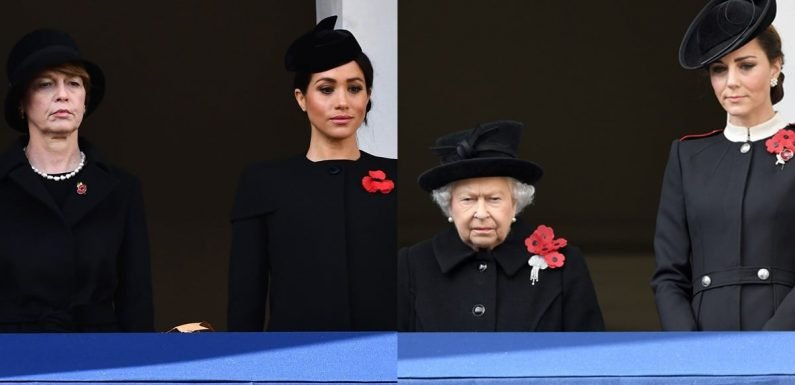 Meghan Markle Joined the Royal Family For Her First Remembrance Day Service