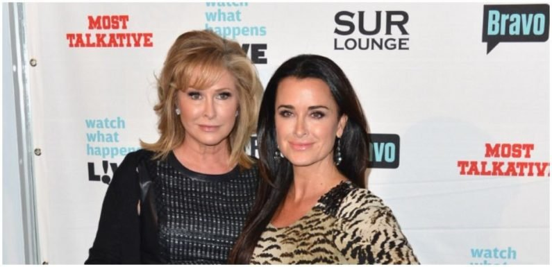 Kyle Richards Poses With Kathy Hilton At Rebag Launch As Celebrity Sisters Put Family Feud Behind Them
