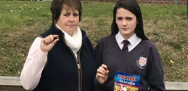 Mum's fury after daughter, 13, suspended from school and accused of 'assault' for throwing Haribo at a teacher