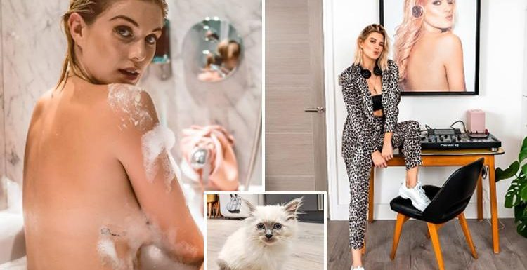 Inside Ashley James' incredible quirky house with Disney fridge, DJ decks, HUGE picture of herself and bright interior design