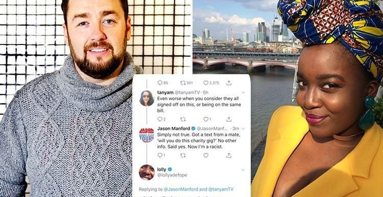 Jason Manford caught up in Twitter race row over all-white comedy gig
