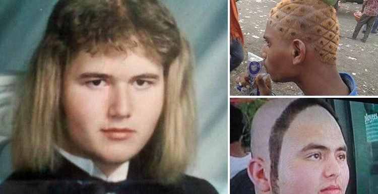 From gelled pony tails to a dyed pineapple do … these bad hair days will make you feel better about your barnet