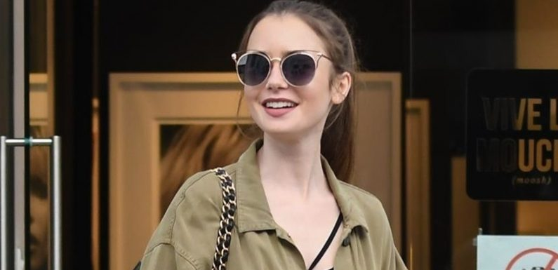 Lily Collins Spends Her Day Shopping in Beverly Hills