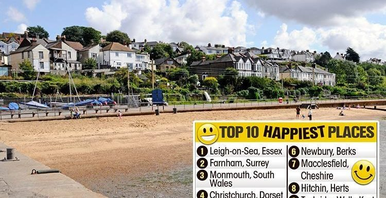 Towie favourite Leigh-on-Sea has been named the happiest place to live in Britain, bumping Leamington Spa to fifth place