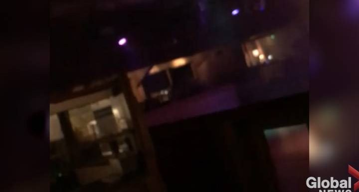 Video shows shots ring out in California bar before patron runs to safety