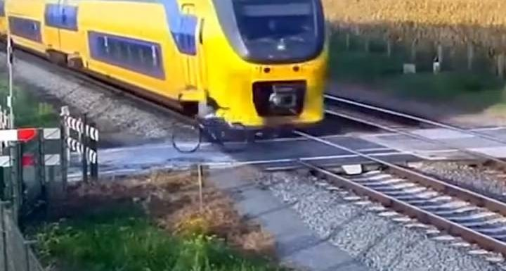 Man narrowly escapes getting hit by train in Netherlands by a second