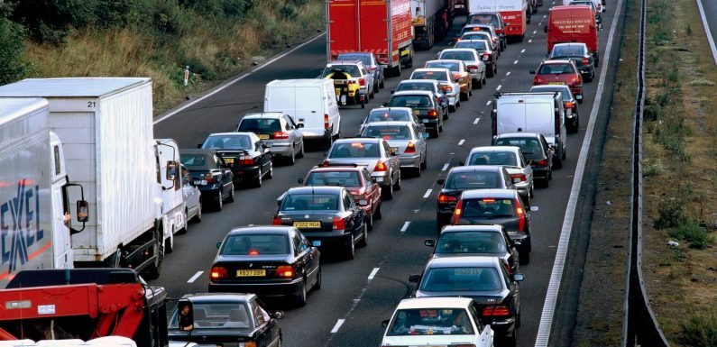 Motorists warned to travel early or after 8pm to beat Christmas getaway jams caused by railway works and strikes