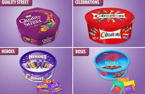 The UK's favourite Christmas chocolate tub sweet revealed, from Quality Street's The Purple One to Roses' Hazel in Caramel – but do you agree?