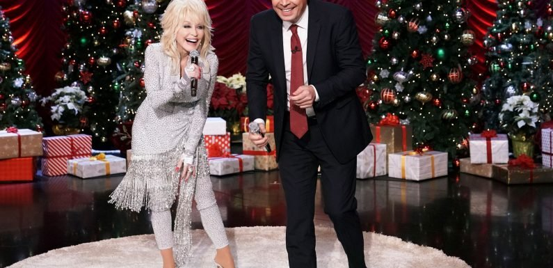 Dolly Parton's threesome joke drops Jimmy Fallon to the floor