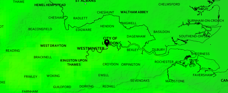 Wednesday's London weather forecast — overcast and misty with rain but feeling warmer with very mild temperatures