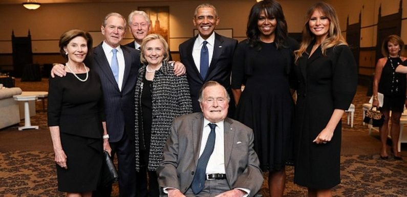 President Barack Obama & Wife, Michelle, Issue Statement On Passing Of George H W Bush