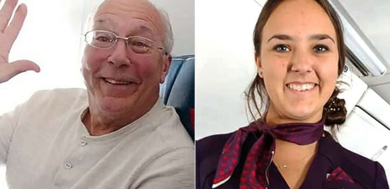 Dad flies with flight attendant daughter so she doesn't spend Christmas alone