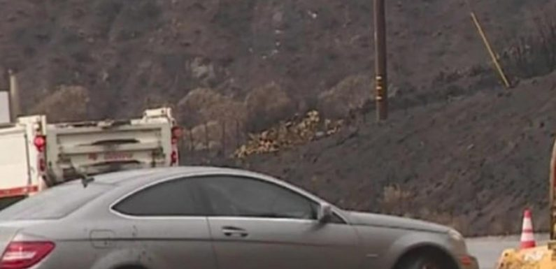 Mudslides, flooding still feared after heavy rain in wildfire-scorched SoCal areas