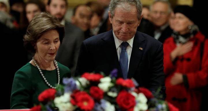 Last salute for George H.W. Bush at state funeral in Washington D.C.