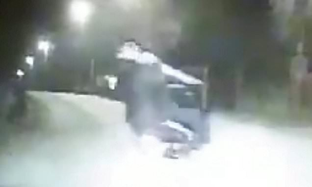 Police mock 'imbecile' scooter pair who try to escape but fall off