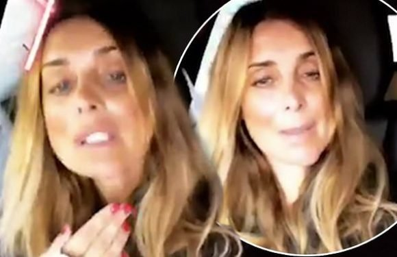 Louise Redknapp reveals her chin wound is 'healing really well'
