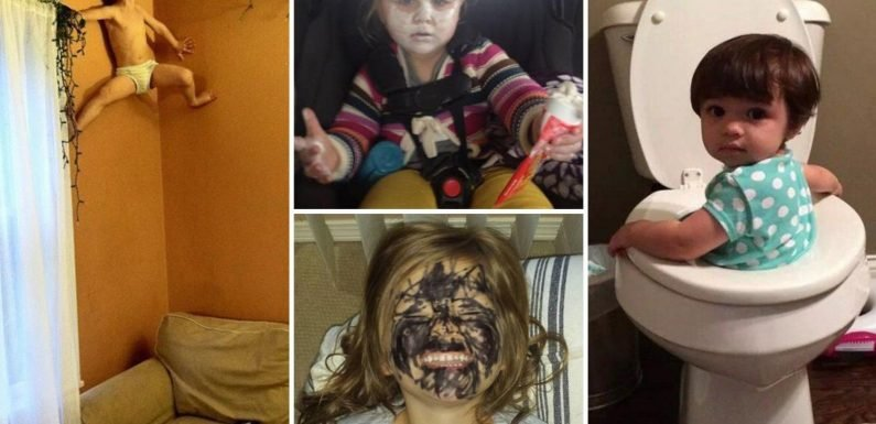 From being a real life Spiderman to giving themselves toothpaste facials – kids do the weirdest things