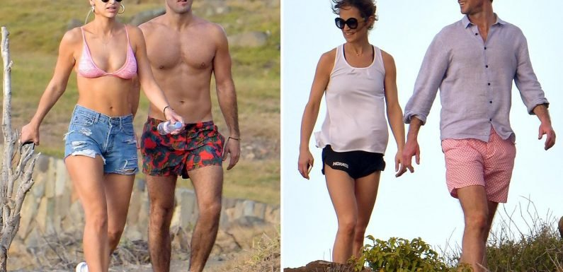 Spencer Matthews and Vogue Williams hit the beach in St Barts with sister-in-law Pippa Middleton