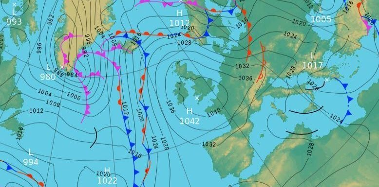 Friday's UK weather forecast — Dry and mostly cloudy across the UK with sunny spells and isolated showers