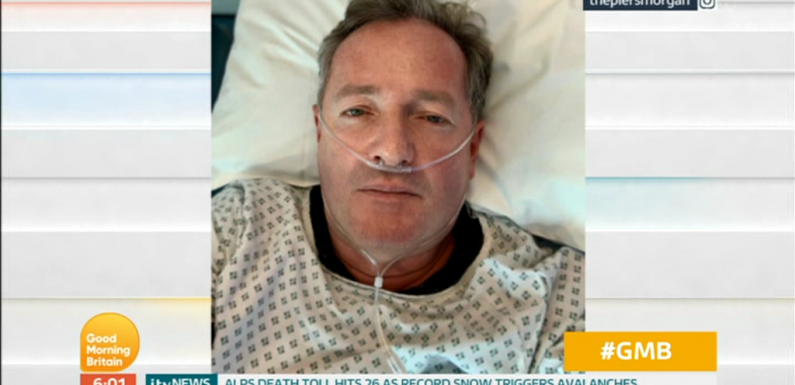 Piers Morgan was so 'drugged up on sedatives' in hospital bed he had no idea he posted selfie