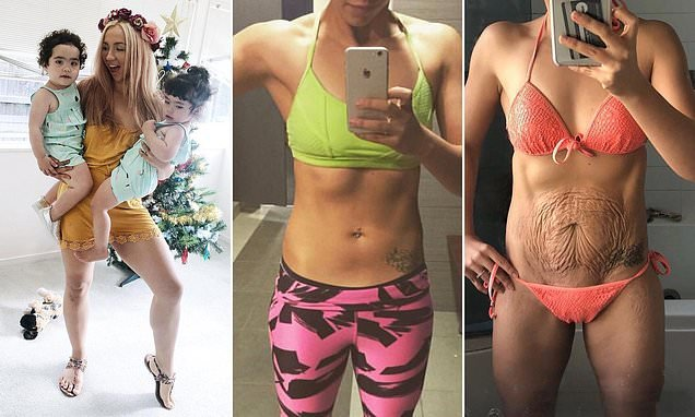 Mother shows off saggy skin and body in in fitness competitions