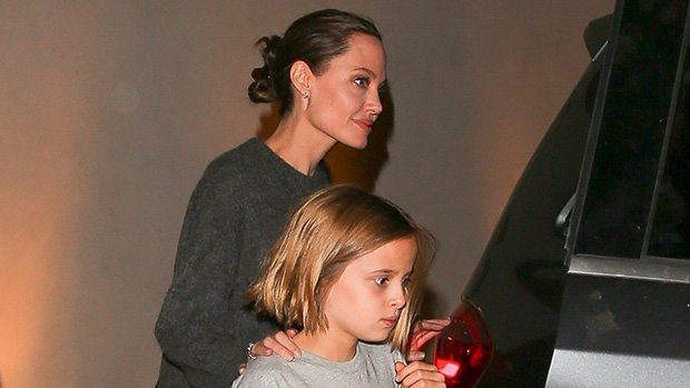 Angelina Jolie Is All Smiles With Look-Alike Daughter, 10, After Brad & Jen's Bday Reunion